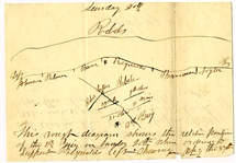 Col. Newell Gleason 87th Indiana Draws a Map and Writes About the Battle of Chickamauga