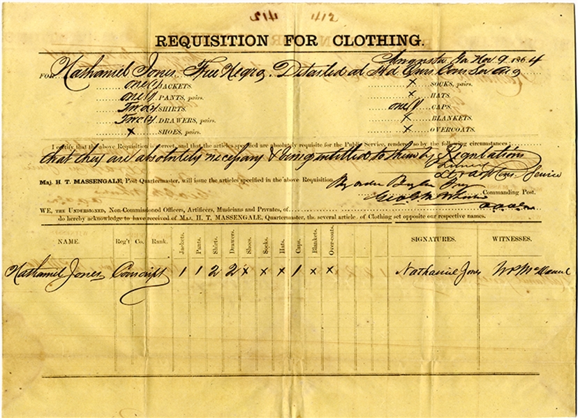 Free Negro Enlists in the Confederate Army