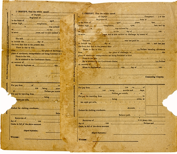 Palmetto Sharpshooters Death Certificates