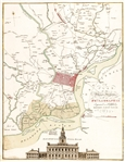 "1777 Colored Map titled: ""A PLAN OF THE CITY AND ENVIRONS OF PHILADELPHIA"" by Matthew A. Lotter"