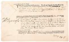 Thomas Heyward & Charles Cotesworth Pinckney Signed South Carolina Document Signers of The Declaration of Independence & Articles of Confederation