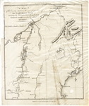 Map of the Quebec Expedition Led by Benedict Arnold