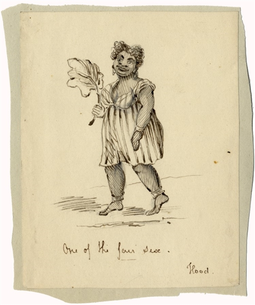 Mid 19th Century Slave Drawing