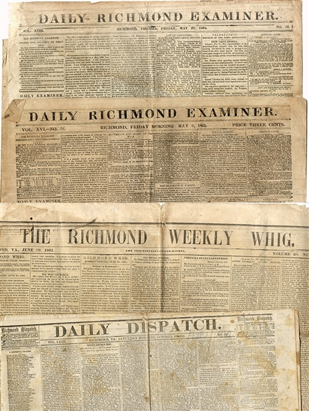 Four Confederate Newspapers with Good Content