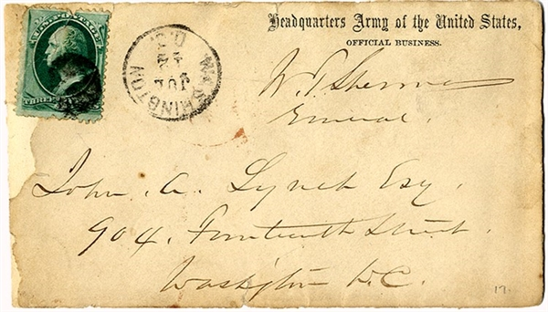 William Sherman Franked Cover
