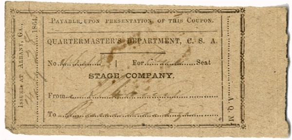 CSA Stage Coach Ticket