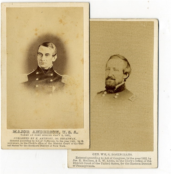 A Pair of Union Commanders' CDV's With Printed Identifications