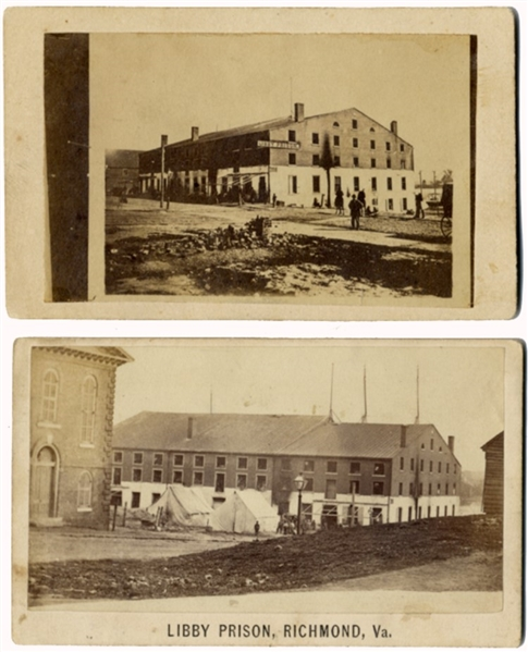 Pair CDVs of Libby Prison