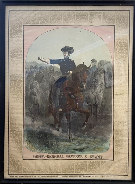 Stunning General Grant 1864 Engraving