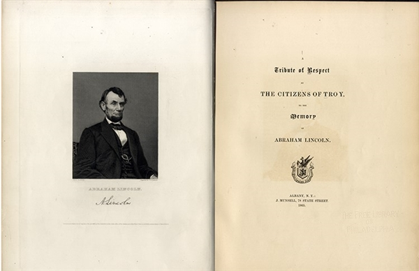 Abraham Lincoln Memorial Book