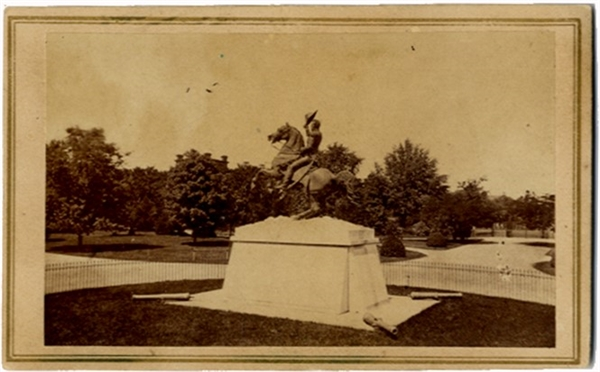 The Andrew Jackson Monument in Lafeyette Square