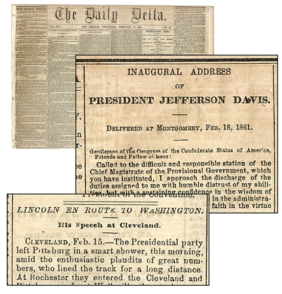 The Daily Delta Jeffer Davis' Inauguration Speech While Lincoln Heads To Washington!