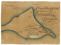 Plan of the Military Prison Situated on Johnson Island in the Bay of Sandusky Ohio