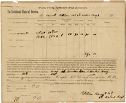"6th Arkansas Document Signed by an Officer in the  ""Dixie Grays"""