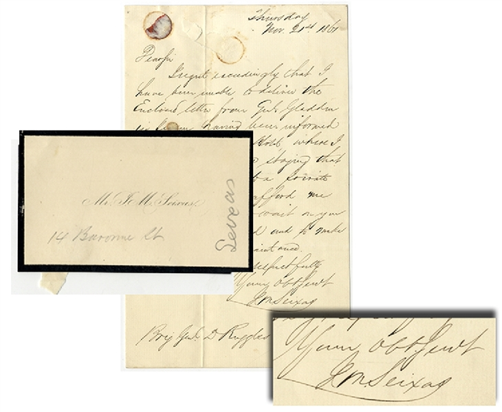 Letter from Mr. Seixas to General Ruggles