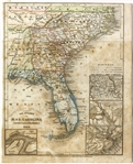 Early Carolina, Georgia and Florida Map