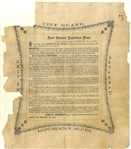 "Rare ""Republican Blues"" of Savannah, Georgia Broadside"
