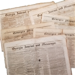 Seven Southern Newspapers with Slave Ads Includes two Confederate Printings