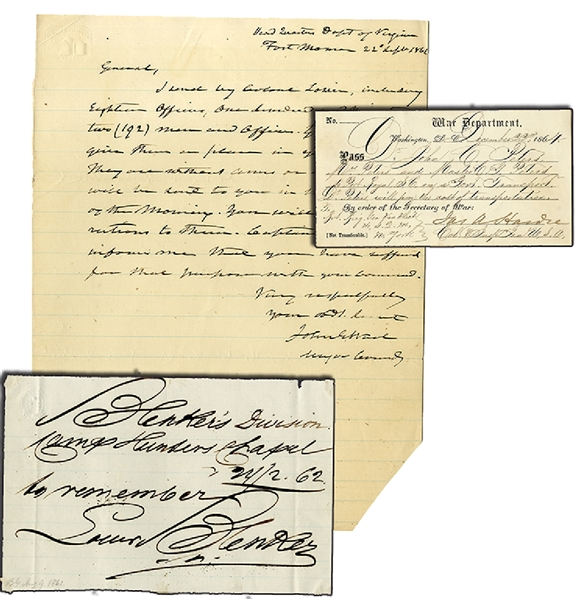 Group of Union General's War Date Docs