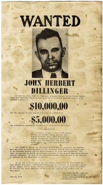Dillinger - America's Most Wanted