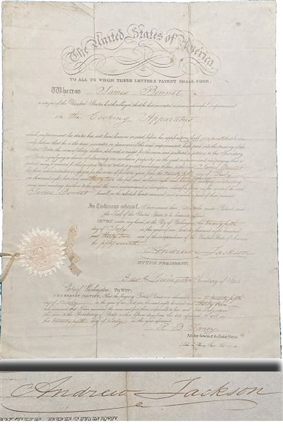 Andrew Jackson Signed Document