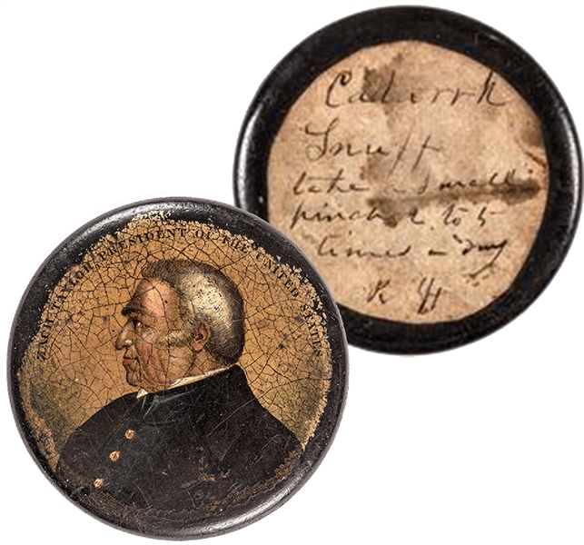 ZACHARY TAYLOR PRESIDENT OF THE UNITED STATES Decorative Bust Portrait Snuffbox