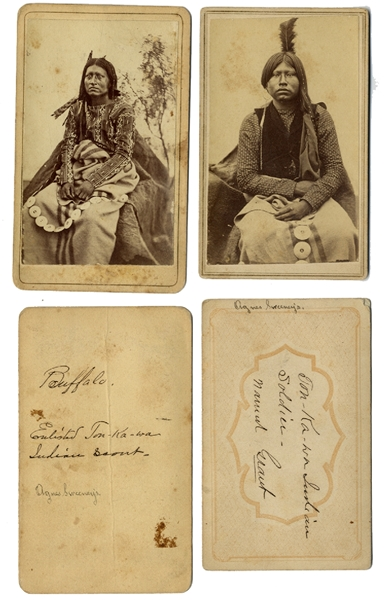 "Rare Identified Indian ""Blue Coats"""