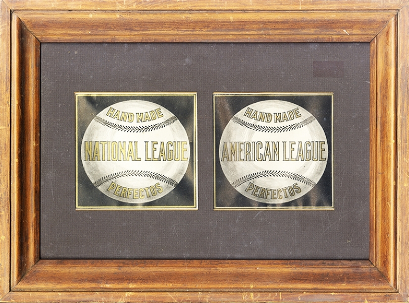 Baseball Cigar Box Labels