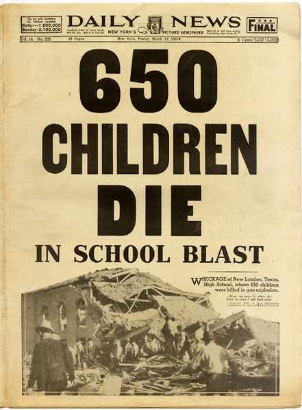 Another School Tragedy - Texas 1937