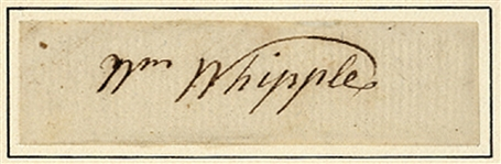 Signer of the Declaration Autograph
