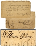 War-date Document Signed by William Ellery