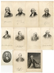 Collection of Revolutionary War American and British Generals Portraits