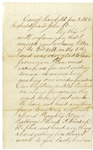 "3rd Pennsylvania Artillery Letter re"" Runkles Nxxxxr Battery"