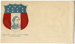 A Graphic, Patriotic Confederate Printed Envelope