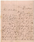 An Early Confederate Post Masters Application Letter