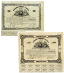 Two of the More Scarce Confederate Bonds