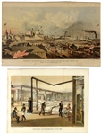 1861 Embarkation of the Ellsworths Fire Zouaves and Soldiers Depot Hospital by Valentine