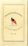 Patriotic Booklet: Consecration of the Flag of The Union, Boston, May 1861