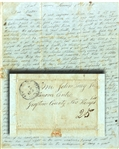 Rare Fort Towson, Choctaw Nation 1840 Soldiers Letter