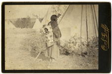 Squaw and Papoose by Photographer Who Took the Last Pictures of Custer and the 7th Cavalry