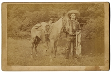"Cabinet Card Photograph of Cowboy Scout ""Wild Burt,"""